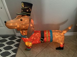 Lighted tinsel dachshund for Sale in Fontana, CA