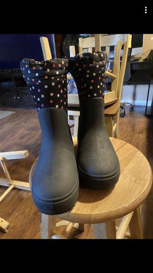 Rain polka dot boots size 2 for Sale in Salt Lake City, UT