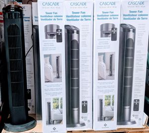 Tower fan 4 speeds, remote control included, ultra quite for only $40 each for Sale in Bellaire, TX