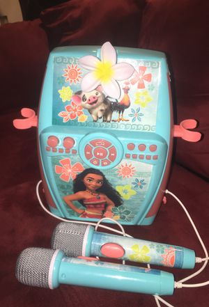 Kids Moana Digital Recording Studio with Dual Microphones - Record, Sing, and Create for Sale in Lake Oswego, OR