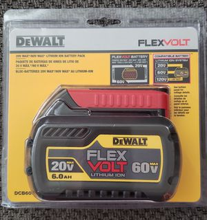 Brand New Sealed DEWALT 20/60V MAX FLEXVOLT 6.0 Ah Battery-$70 for Sale in Chula Vista, CA