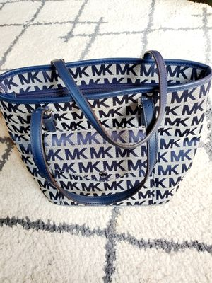 Michael Kors Blue Monogram Bag for Sale in New Rochelle, NY