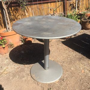 Rustic Industrial Round Metal Table for Sale in San Diego, CA