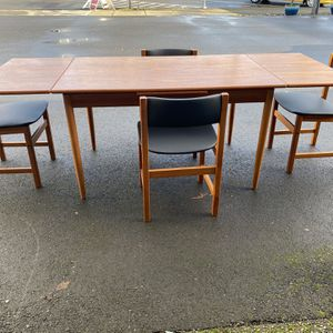 Danish Teak Dining Table And 4 Chairs for Sale in Milwaukie, OR