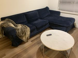 Navy ikea l sectional couch sofa for Sale in Dublin, CA