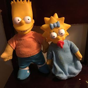 "Maggie Simpson Figure Doll The Simpsons 1990 7"" Burger King Toys for Sale in Boston, MA"