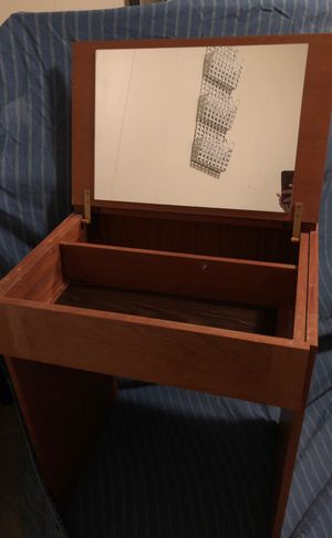 Antique wood vanity with mirror and storage. for Sale in Oakton, VA