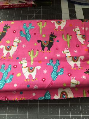 """Llama Cotton Fabric 3 Yards n 15"""" for Sale in Sacramento, CA"""
