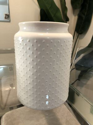 Beige Ceramic Utensil Jar for Sale in San Diego, CA