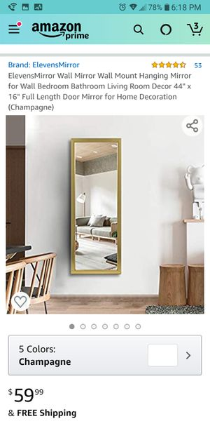 New Golden Fancy Wall Mirror for Sale in Lowell, MA