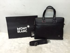 Montblanc Messenger unisex Laptop / office Leather Bag -black model#1065-5 for Sale in San Diego, CA