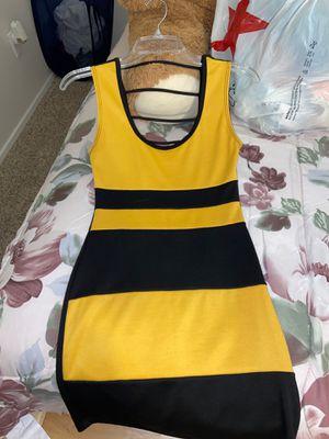 Black and yellow mini dress, club dress, casual dress. for Sale in Fontana, CA