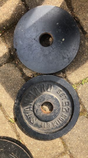 Pair of 25lb Olympic weight plates for Sale in Commack, NY