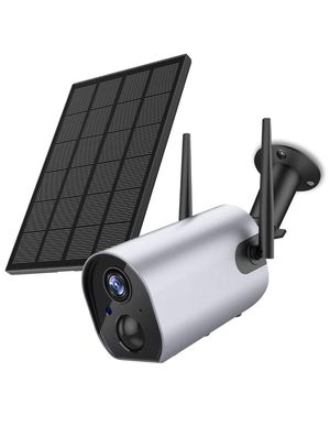 Wireless Outdoor Security WiFi Camera, Solar Powered Rechargeable Battery Surveillance Camera, 1080P Home Security Camera, Night Vision, Two Way Aud for Sale in Corona, CA