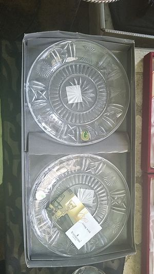 Waterford crystal toast accent plates for Sale in Gaithersburg, MD