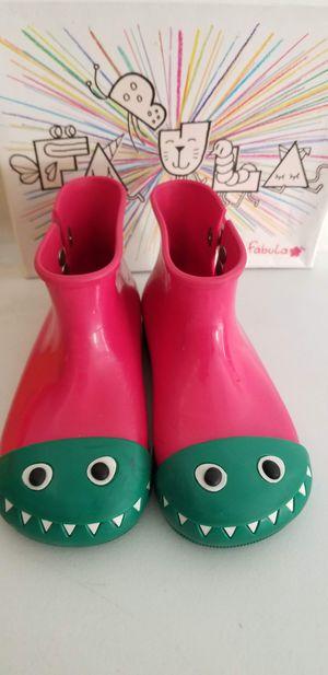 GIRLS RAIN BOOTS MINI MELISSA SIZE 12 for Sale in Fullerton, CA