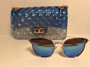 *New Blue &Clear Jelly Handbag / With Free Sunglasses* for Sale in St. Louis, MO