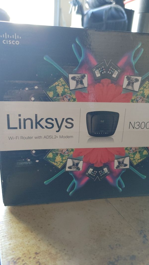 Linksys N300 All in One Wi-Fi Router with ADSL2 + Modem