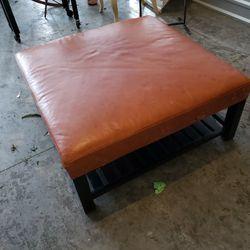 Beautiful Arhaus Leather Coffee Table for Sale in Lake Stevens,  WA