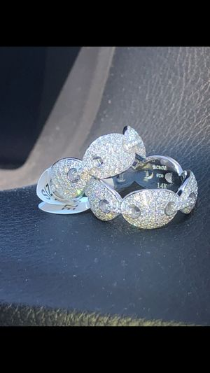 New - solid 14k stamp GUCCl iced out ring for Sale in Lawndale, CA