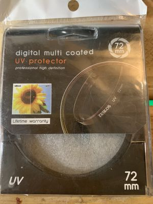 72mm UV Protector/skylight filter for Sale in Scottsdale, AZ