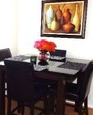 Wood Table With Glass Top/4 Cushioned Chairs for Sale in View Park-Windsor Hills,  CA