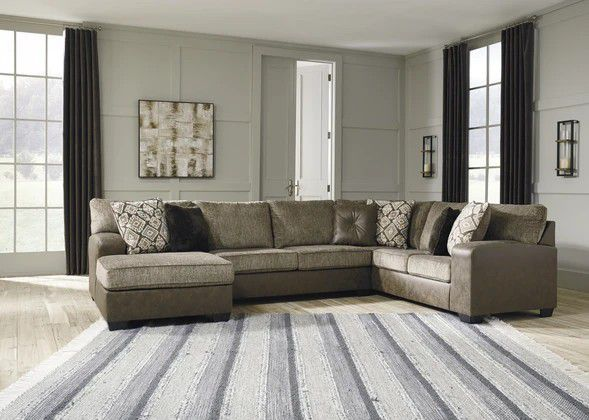 1299Chocolate LAF Sectional SAME DAY FREE DELIVERY