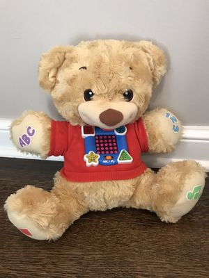 Fun Stuffed learning bear for children for Sale in Northbrook, IL