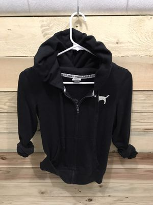 PINK black zip up hoodie— size XS for Sale in Reynoldsburg, OH