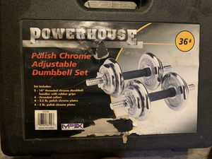 Like new dumbbell sets chrome for Sale in San Gabriel, CA
