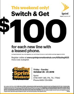 Sprint weekend for Sale in Port Arthur, TX