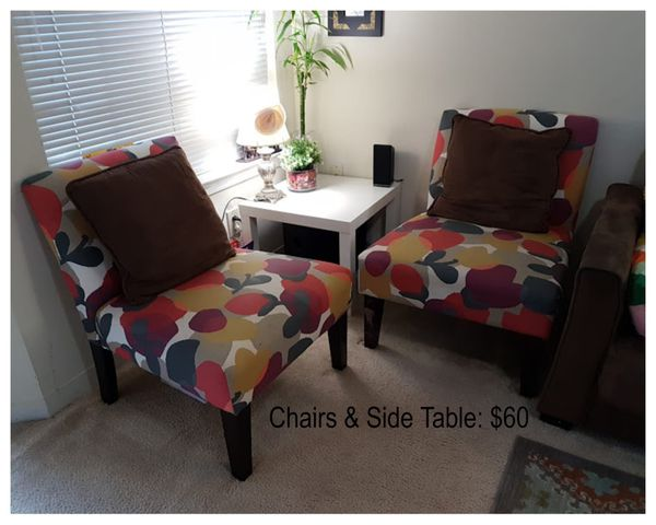 Chairs and side table