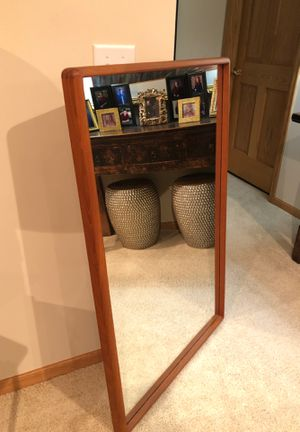 "LIKE NEW—Teak Mirror 28.5"" wide x 45.5"" high for Sale in Osseo, MN"