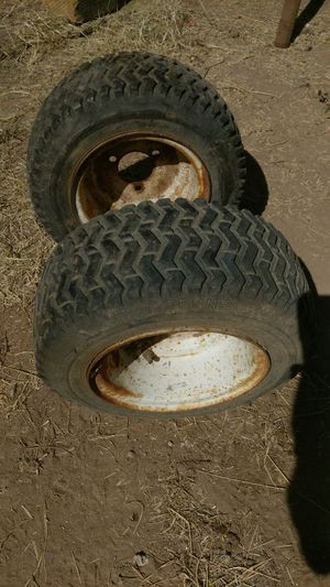 Garden tractor front wheels/good tires for Sale in Tempe, AZ