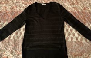 NY and Co V-neck jewel-encrusted sweater - Black - large for Sale in Virginia Beach, VA