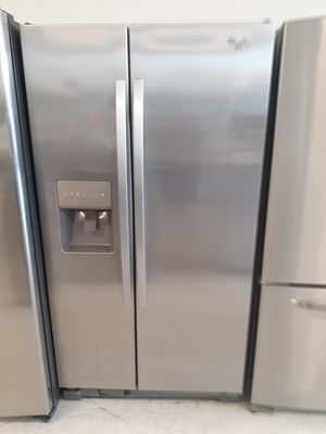 Whirpool stainless steel side by side refrigerator used in good condition with 90 day's warranty for Sale in Mount Rainier, MD