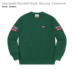 Supreme/Honda/Fox Racing Crewneck - Dark Green - Medium for Sale in NO HUNTINGDON, PA