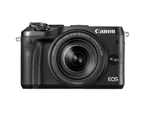 Canon - EOS M6 Mirrorless Camera with EF-M 15-45mm f/3.5-6.3 IS STM Zoom Lens - Black for Sale in San Diego, CA
