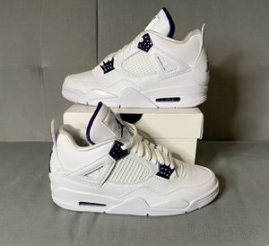 Nike Air Jordan 4 Retro Metallic Purple Size 9.5 for Sale in American Fork, UT