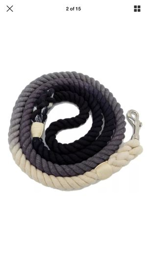 5 FT Ombre Cotton Rope Dog Leash Braided Black for Sale in Endicott, NY