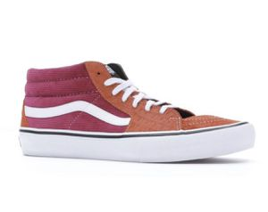 Supreme Vans Skate Mid Pro shoes sneakers size 8 Men's red orange rust croc suede for Sale in Alexandria, VA