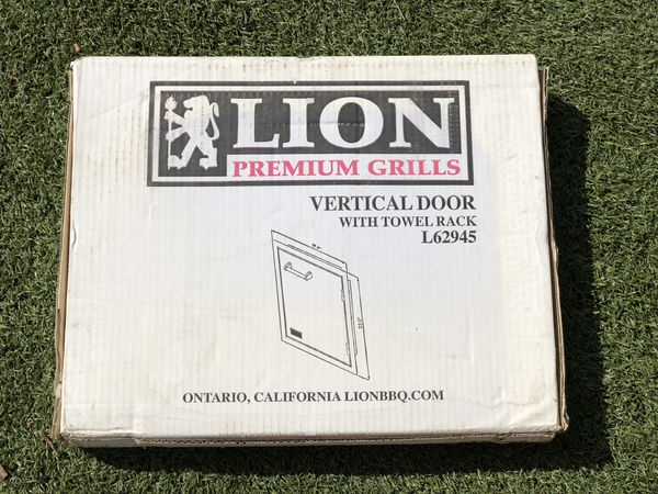 "Lion BBQ Grills 17"" Vertical Access Door Stainless Steel"