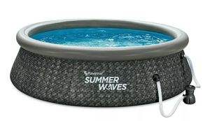 Summer waves 10x30 wicker pool with filter pump for Sale in Dublin, OH