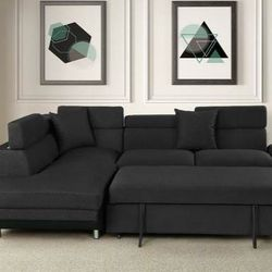 💕Miami Black LAF Sleeper Sectional💕🏆39 DOWN 🏆 for Sale in Austin,  TX