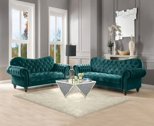 (JUST $54 DOWN) Brand New Modern Tufted Sofa and Love Seat Set with pillows (Financing and Delivery available) for Sale in Carrollton, TX