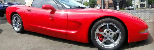 1999 Red Corvette Convertible