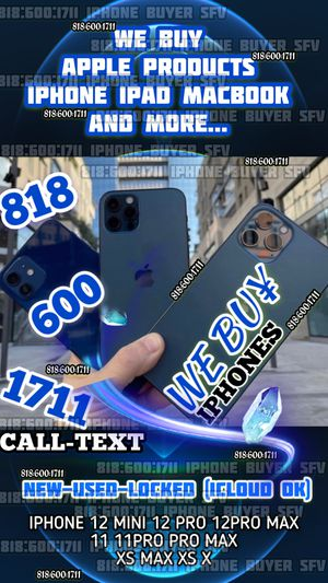 iphone 12 pro 12 pro max mini iCloud locked phone xs max x 11 pro max 11 pro new iPad wifi +cellular macbook pro 2020 new box apple watch 6 new for Sale in Los Angeles, CA