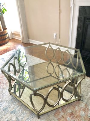 Hexagon Glass coffee table for Sale in Raleigh, NC