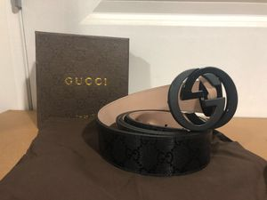 Gucci Black Shinny GG Impreme Belt *Authentic* for Sale in Queens, NY