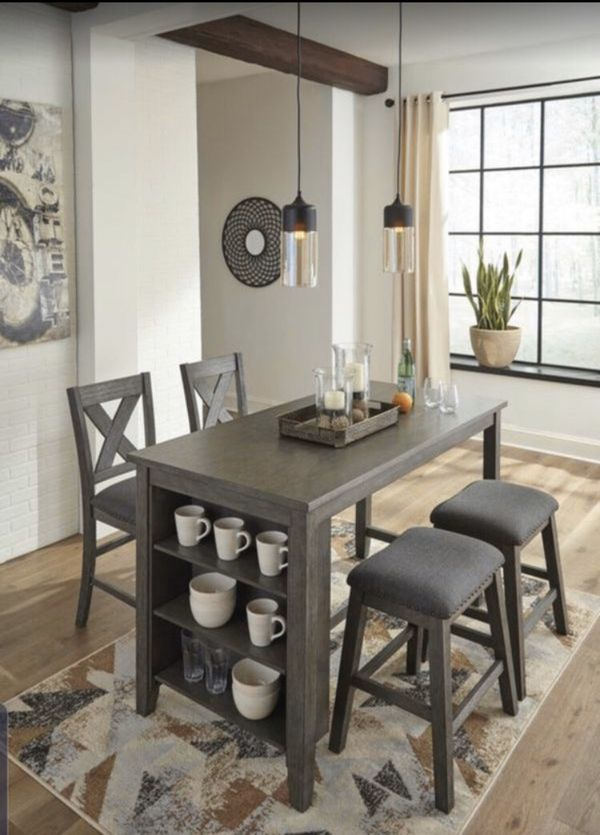 Counter height dining table set ( counter height table +2 chairs +2 counter stools